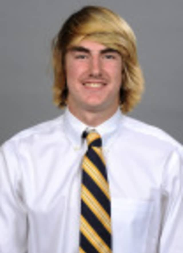 Former Ridgefield lacrosse standout Cal Dearth was named the Patriot League Rookie of the Week recently.