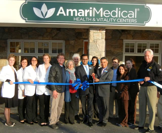 The staff at Amari Medical Health and Vitality center celebrated with a ribbon cutting ceremony on Thursday, April 24.
