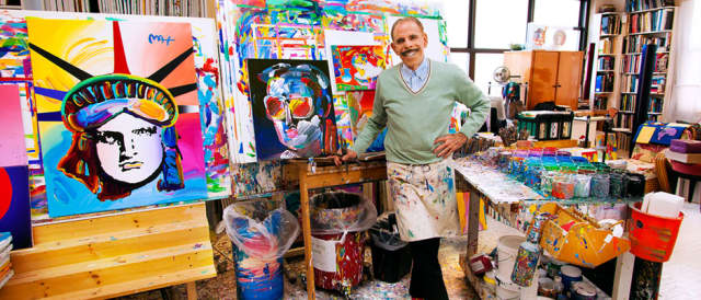 Peter Max will be at the Geary Gallery Saturday and Sunday.