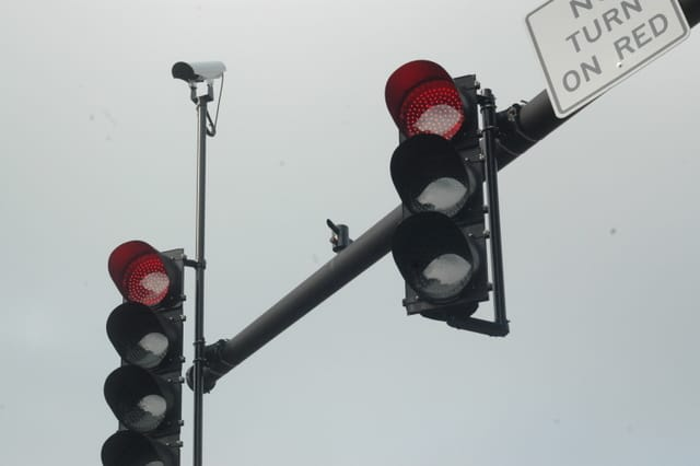 The traffic signal at Veteran's Memorial Drive at Blue Hill Road North in Orangetown is currently out.