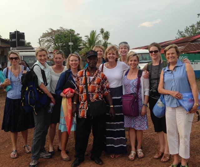 Women of Vision Fairfield County chapter members in Sierra Leone.
