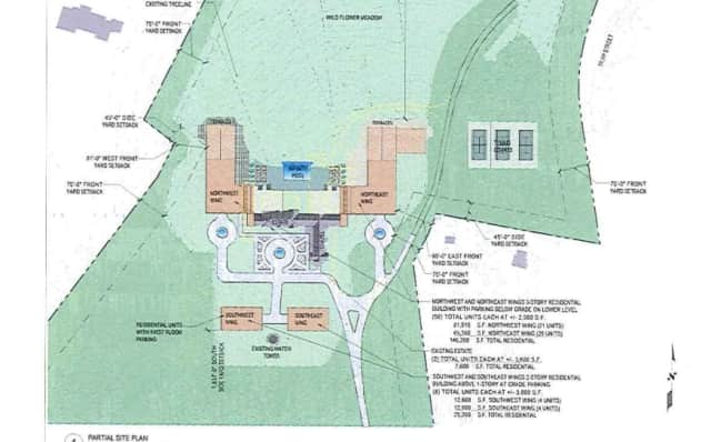 A screenshot taken of the proposed site plan for Rosehill.