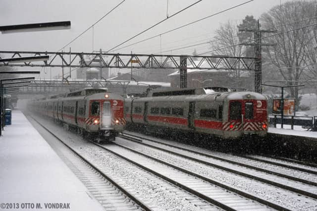 Metro-North is operating on a reduced schedule on Tuesday as a blizzard slams Connecticut.