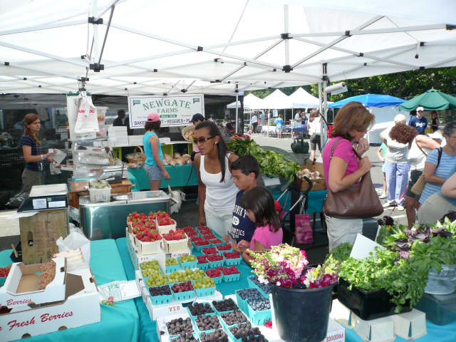 The New Rochelle Down To Earth Farmers Market offers a large variety of fresh fruits, vegetables and specialty foods.