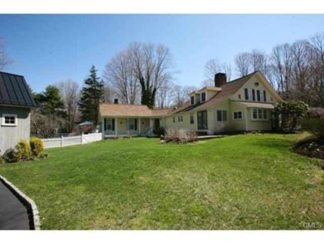 The house at 36 Sharp Hill Road in Wilton is open for viewing this Sunday.