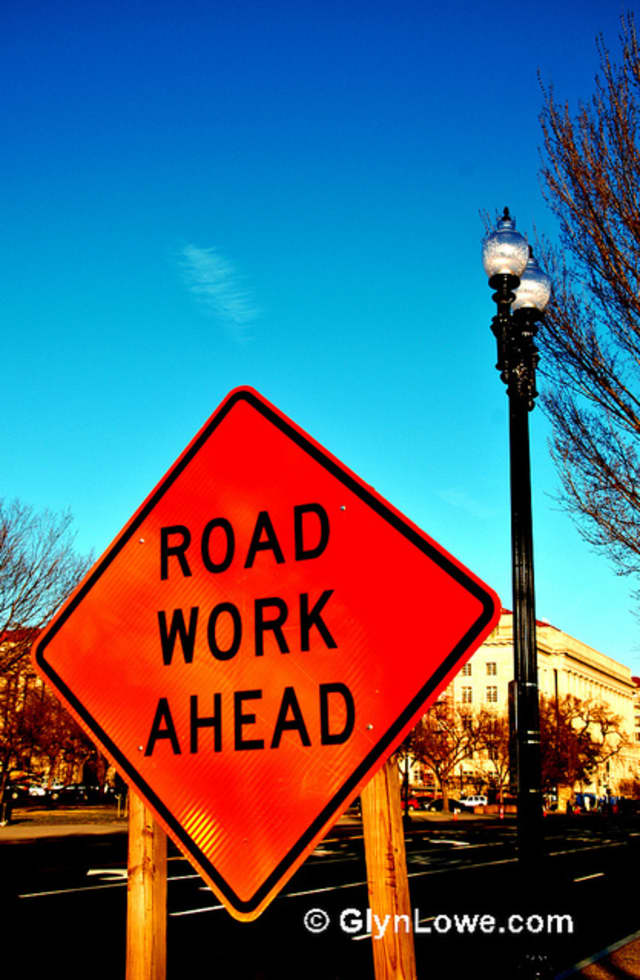Road resurfacing will create temporary changes in the traffic patterns on Ashburton and Roberts avenues this week.