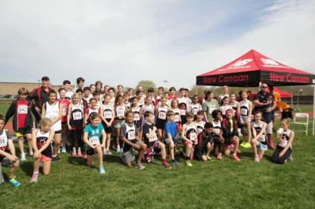 The New Balance Blazers youth track and field team, sponsored by New Canaan New Balance, held its first meet last week at New Canaan High School.