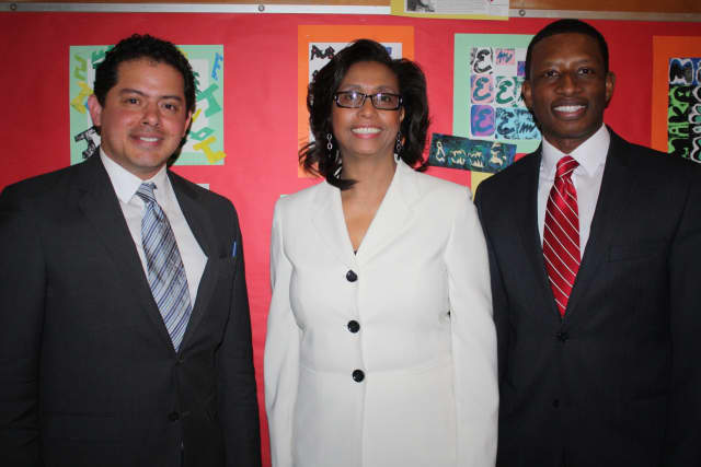 Rolando Briceño, Jamal Lewis, and Cassandra Hyacinthe were recently appointed as new principals in the Peekskill City School District.