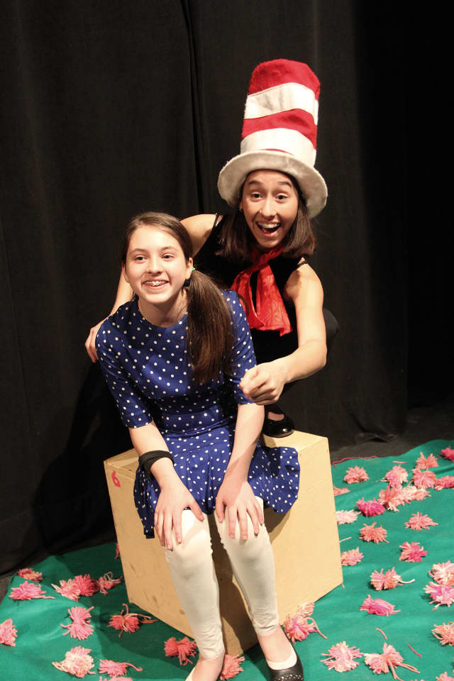 """Students at the Wooster Middle School are ready to open """"Seussical, Jr."""" on Friday, May 16."""