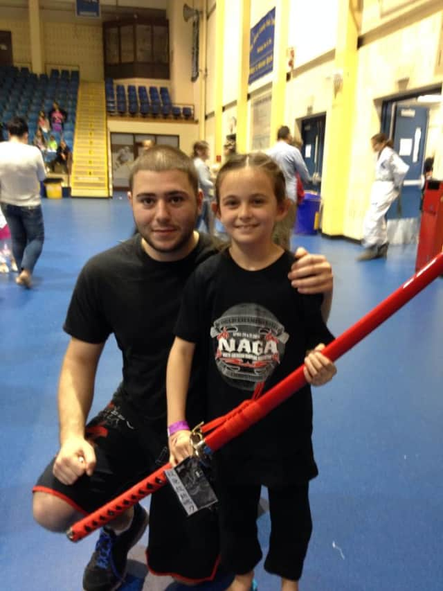 WMAA grappling instructor Ron Barone and Alexa Grassi, of Yonkers, at the NAGA Tournament.