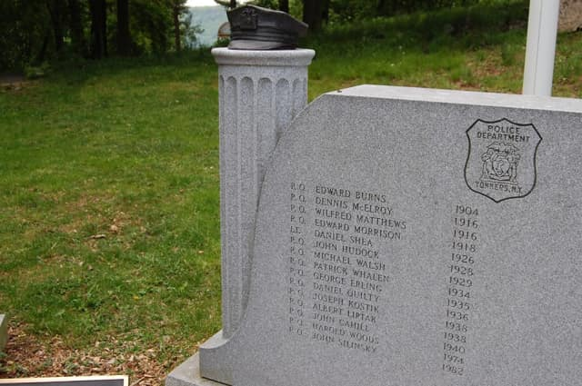 The Yonkers Police Department will participate in several events for National Police Week 2014. Pictured is the Yonkers Police/Fire Memorial at Untermyer Park.