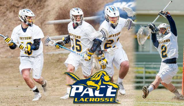 Pace University men's lacrosse players were honored with team awards.