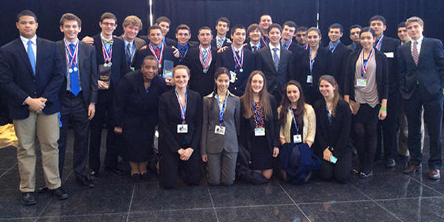 Members of the Harrison High School Business Club are heading to the National DECA competition in Atlanta.