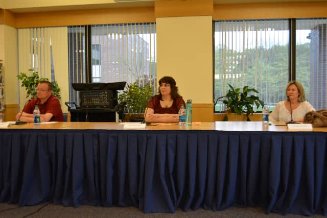 Left to right, Andrew Brown, Arleen Henshaw and Carolyn Aversano.