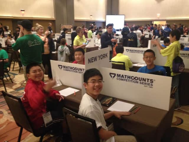 Two Scarsdale students recently competed in the National Mathcounts Competition at Disney World.