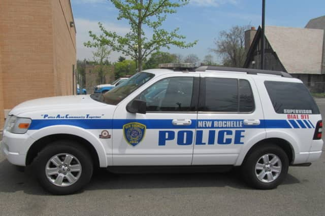 New Rochelle police are searching for a suspect wanted in connection with a robbery and stabbing on Sunday, May 18.