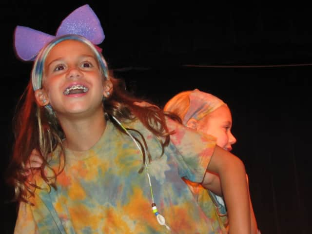 "Darien resident Natalie Caputo enjoys her role in a children's summer theatre workshop at the Darien Arts Center. The ""Let's Put on a Show"" and the Pre-School Art and Dance Workshops at the DAC this summer encompass many facets of theatre production"