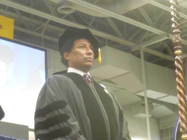 Lawrence Otis Graham received an honorary doctorate and delivered the commencement address at Pace's commencement ceremony.