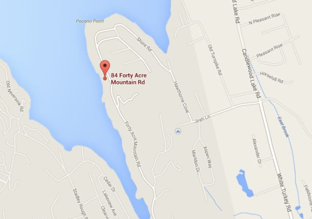 Danbury firefighters were battling a blaze at a home on Candlewood lake Wednesday morning.