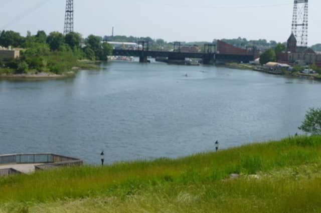The WALK Bridge carries Metro-North trains over Norwalk Harbor, between the South Norwalk and East Norwalk stations.