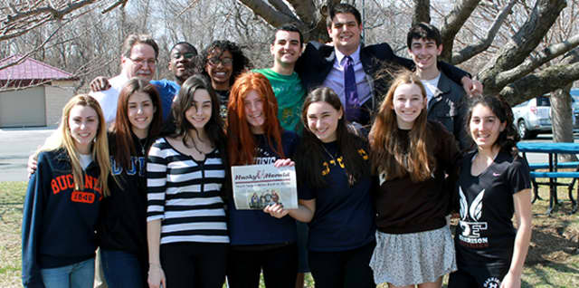 The staff of The Harrison High School newspaper, The Husky Herald, has won a first place award.