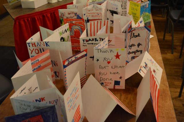 The Norwalk Public Library is asking residents of all ages to drop in on Wednesday from 10 a.m. to noon to make thank-you cards for veterans.