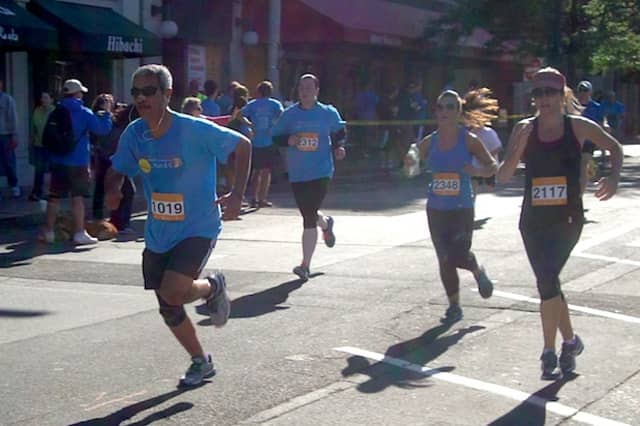 Runners take part in the annual Hope in Motion Walk and Run to benefit Stamford Hospital.