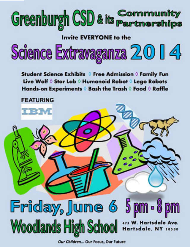 The Greenburgh Central School District will host its annual science extravaganza on Friday, June 6.