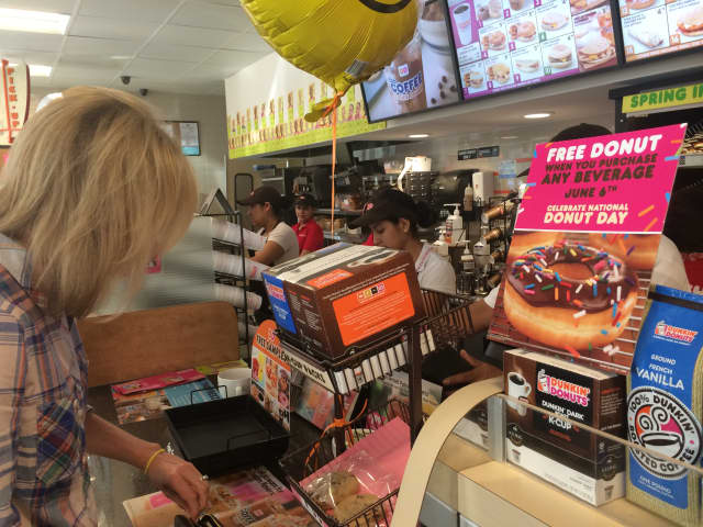 A Dunkin' Donuts franchisee in Westchester is accused of sexual harassment.