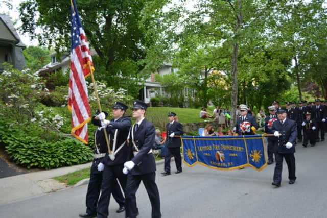 The Bedford Fire Department parade included firefighters from Katonah and several neighboring colleagues.