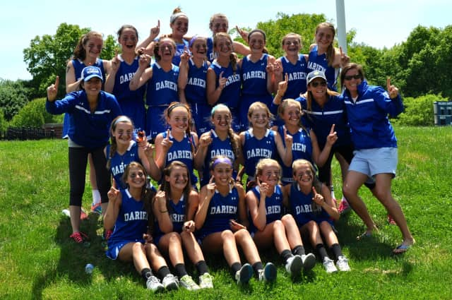 The Darien girls lacrosse 8A squad recently won the CONNY state championship.