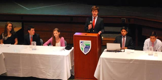 Eighth grade students from New Canaan Country School recently participated in a two-day World Congress.