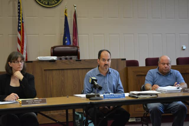 The Hudson Valley Regional Board of Review, pictured, postponed voting on variances for Chappaqua Station.