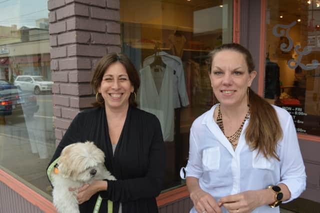 Cathy Deutsch, left, and Leslie Bijoux.