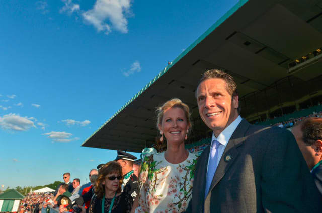 Sandra Lee was with Gov. Andrew Cuomo