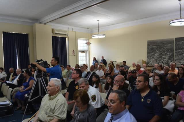 Turnout was heavy for the presentation about the proposed Mount Kisco-Westchester County police consolidation.