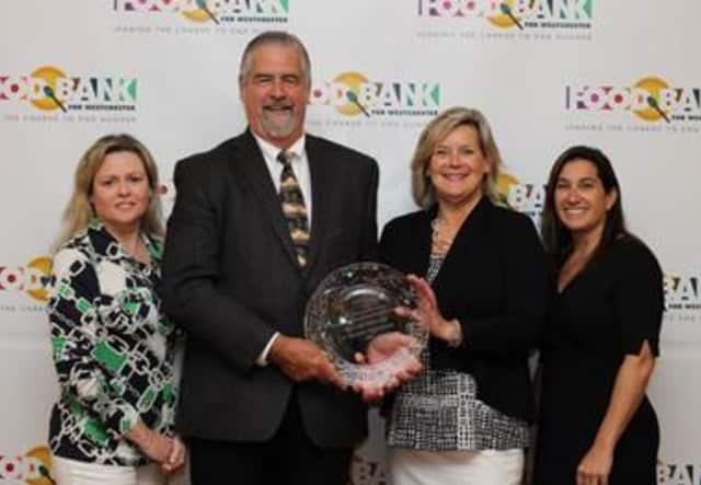 From left: Danae Richards, former president JLNW; Brian Skanes, executive director, Boys & Girls Club of Northern Westchester; Ellen Lynch, executive director, Food Bank for Westchester and Samantha Johns, president JLNW