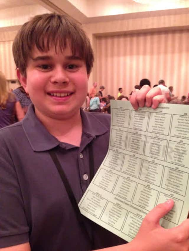 Matthew DeMarco at the National History Bee final in Atlanta.