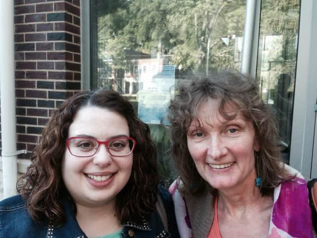 Mount Kisco librarians Maria Ciccone and Martha Irwan.