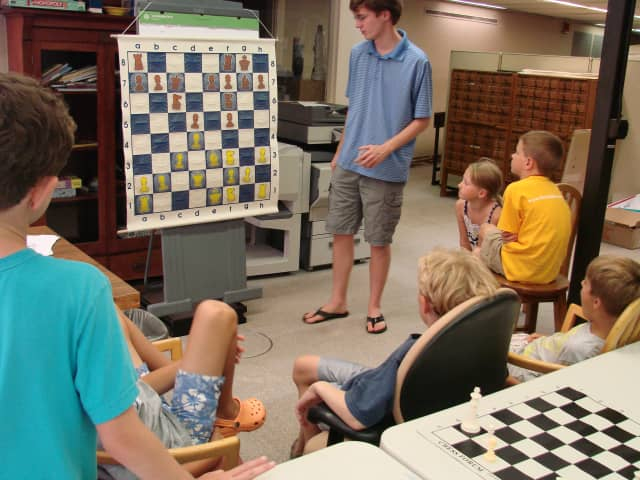 The Chess Camp at the Pequot Library will run Wednesdays for nine weeks this summer.
