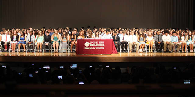 Louis M. Klein Middle School's eighth-grade class held its moving up ceremony on Saturday, June 28.