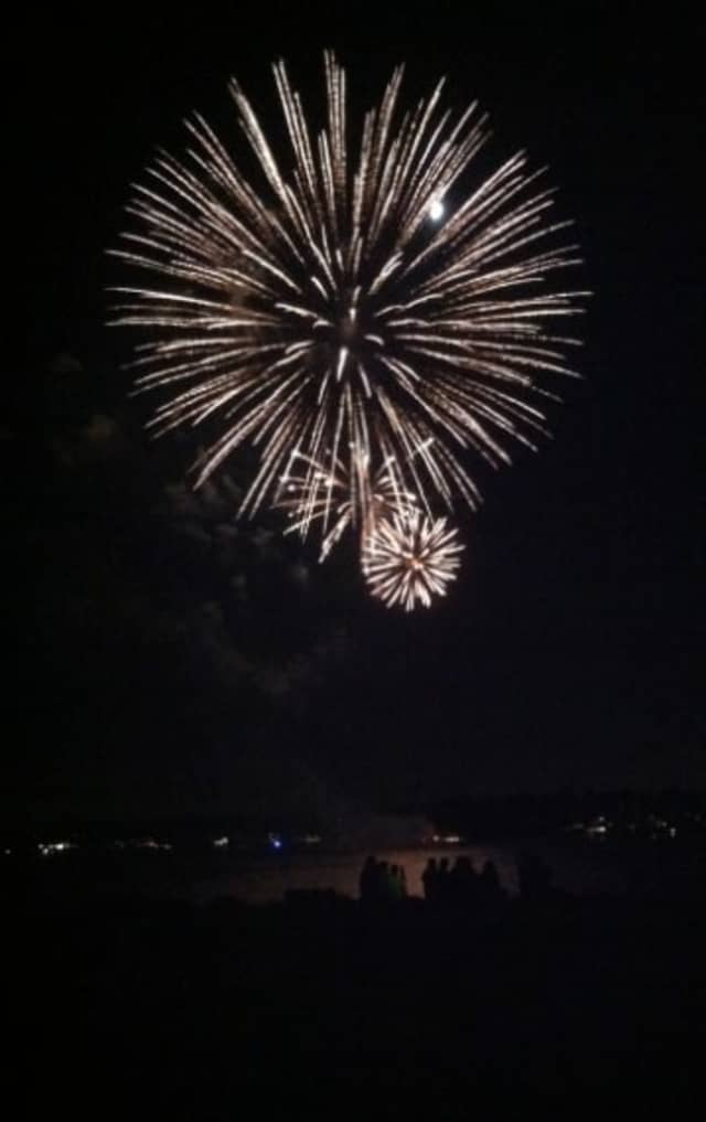 Fireworks light up the sky in Stamford at a previous July 4th celebration.