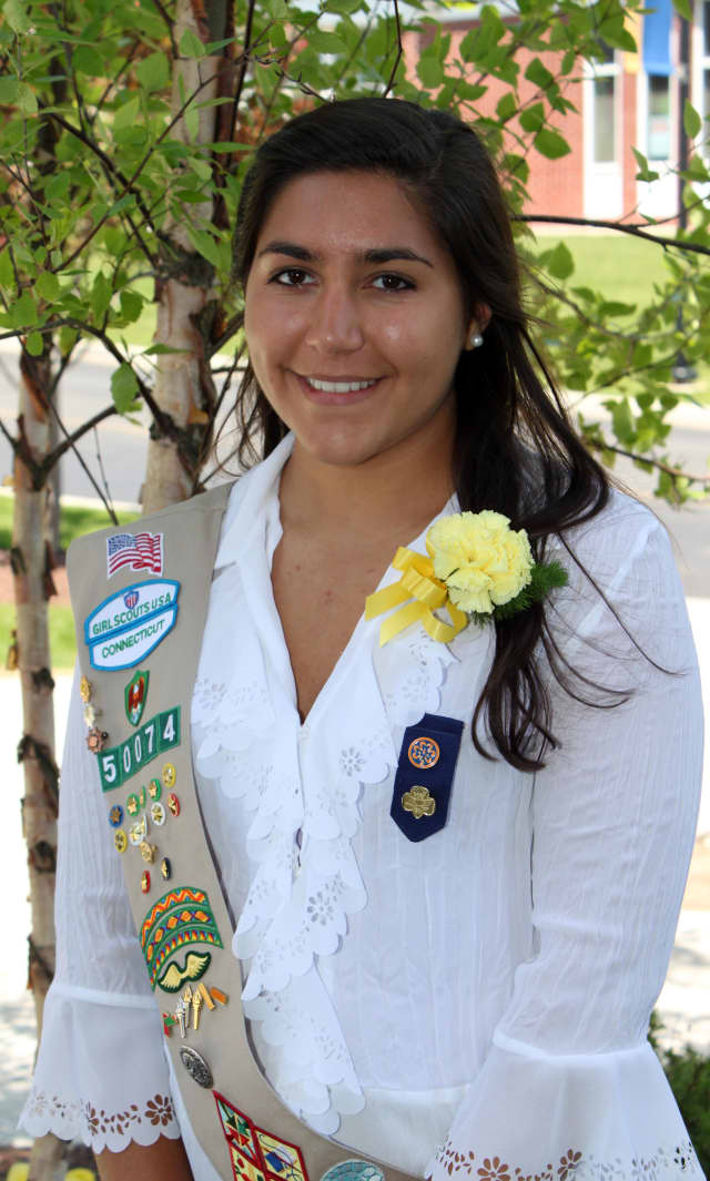 Analise Giobbi of Ridgefield created pamphlets on the importance of clean water that will be distributed at different mission sites throughout Central America to earn her Girl Scout Gold Award.