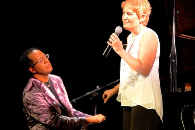 "Joel Martin and Liz Callaway perform at the Darien Arts Center's ""Get Jazzed"" event."