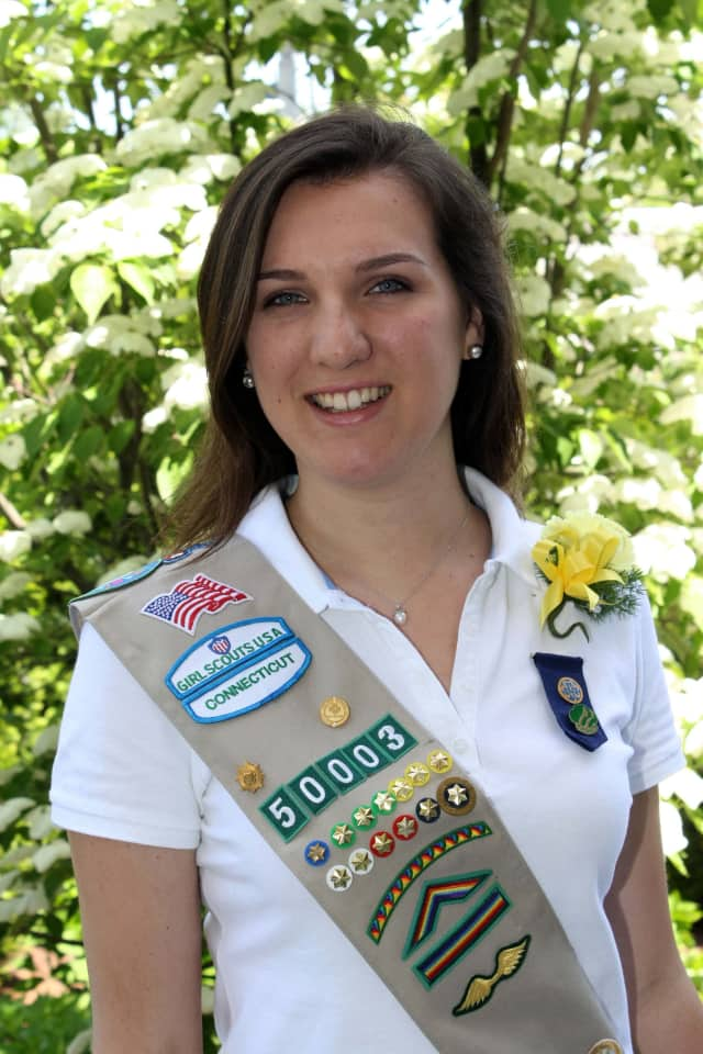 Kathryn Ann FitzMaurice of Darien worked with middle schoolers at St. John Church to earn her Girl Scout Gold Award.