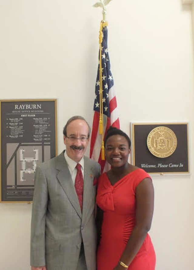 Akunna Faith Uka met with Rep. Eliot Engel in Washington, D.C.