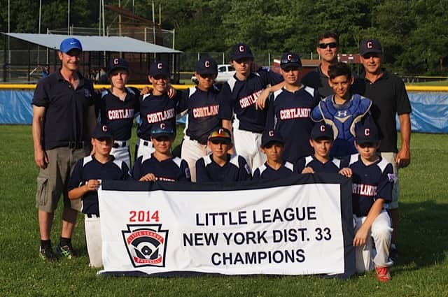 Cortlandt American Little League won the District 33 12U Little League tournament on Monday, July 7.