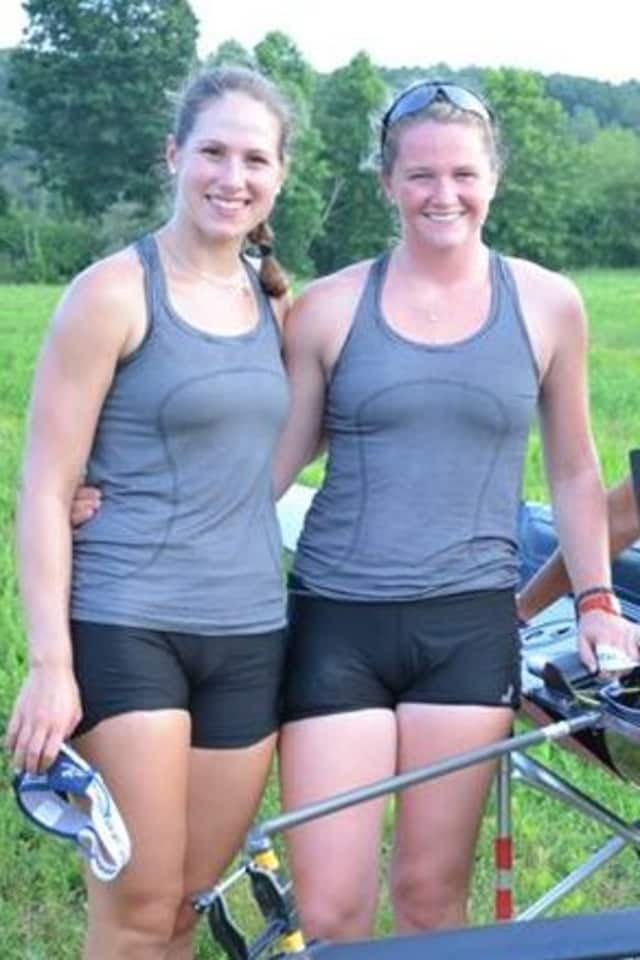 Ridgefield's Meg Galloway, right, and Harrison's Liliane Lindsay were named to the U.S. team for the World Rowing Junior Championships next month in Hamburg, Germany.
