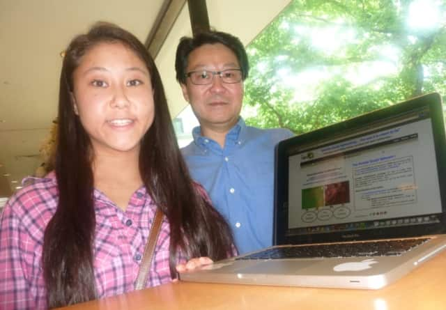 Julianna Yee, 16, and her father Bill, of Wilton, have created a new social networking site called ThePortalz.com.