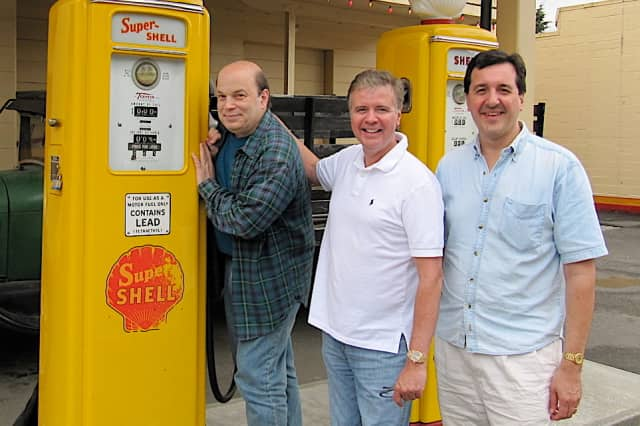 From left are Jerold Goldstein, Fred Stark and William Squier, the authors of 'Route 66,' which debuts Wednesday at the Summer Theatre of New Canaan.